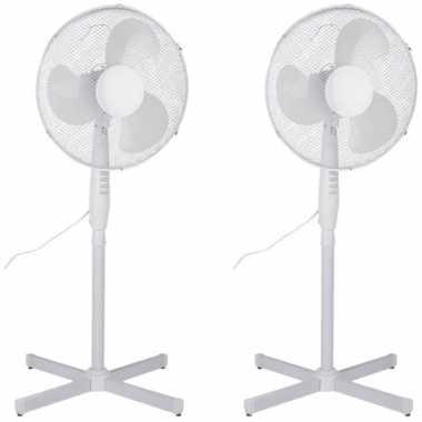 2x stuks staande ventilator 40 cm