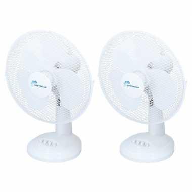 2x tafel ventilatoren 30 cm