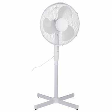 Staande ventilator wit 40 cm