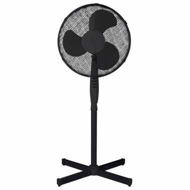 Staande ventilator zwart 40 cm