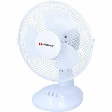 Tafel / bureau ventilator wit 23 cm