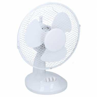 Tafel ventilator wit 23 cm