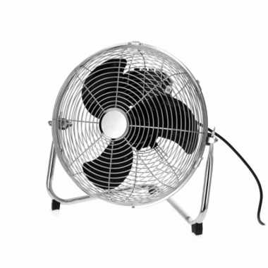 Vloer ventilator zilver 30 cm