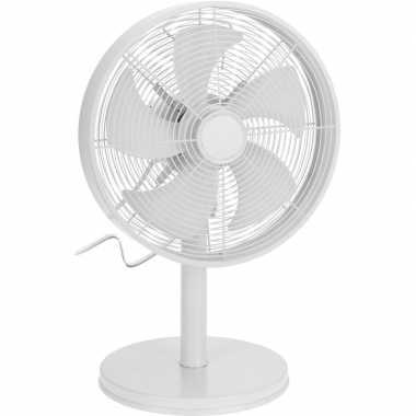 Witte luxe tafel ventilator 55 cm