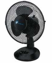Tafel ventilator zwart 23 cm