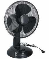 Tafel ventilator zwart 30 cm