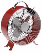 Tafelventilator rood 26 cm